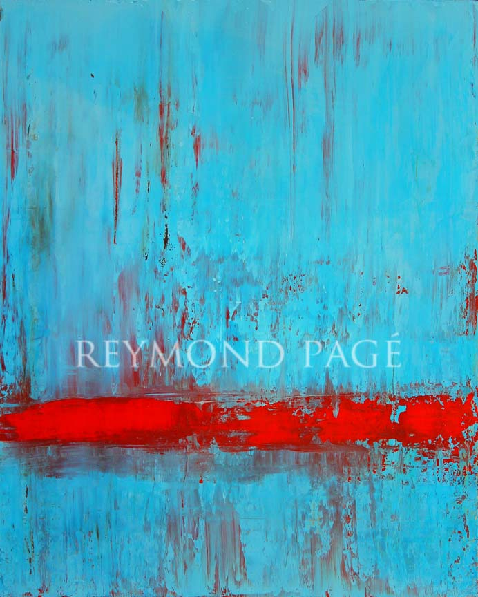 abstract painting red and blue